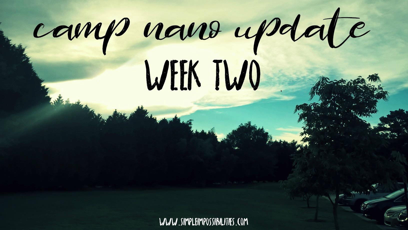 camp nano update // week two