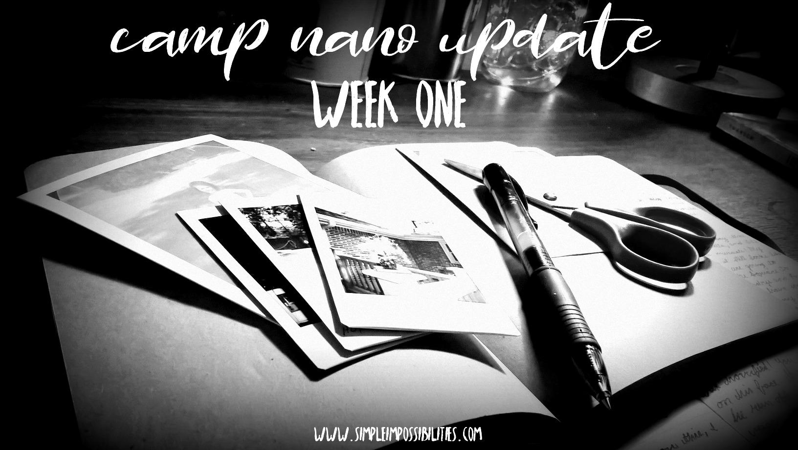 camp nano update // week one