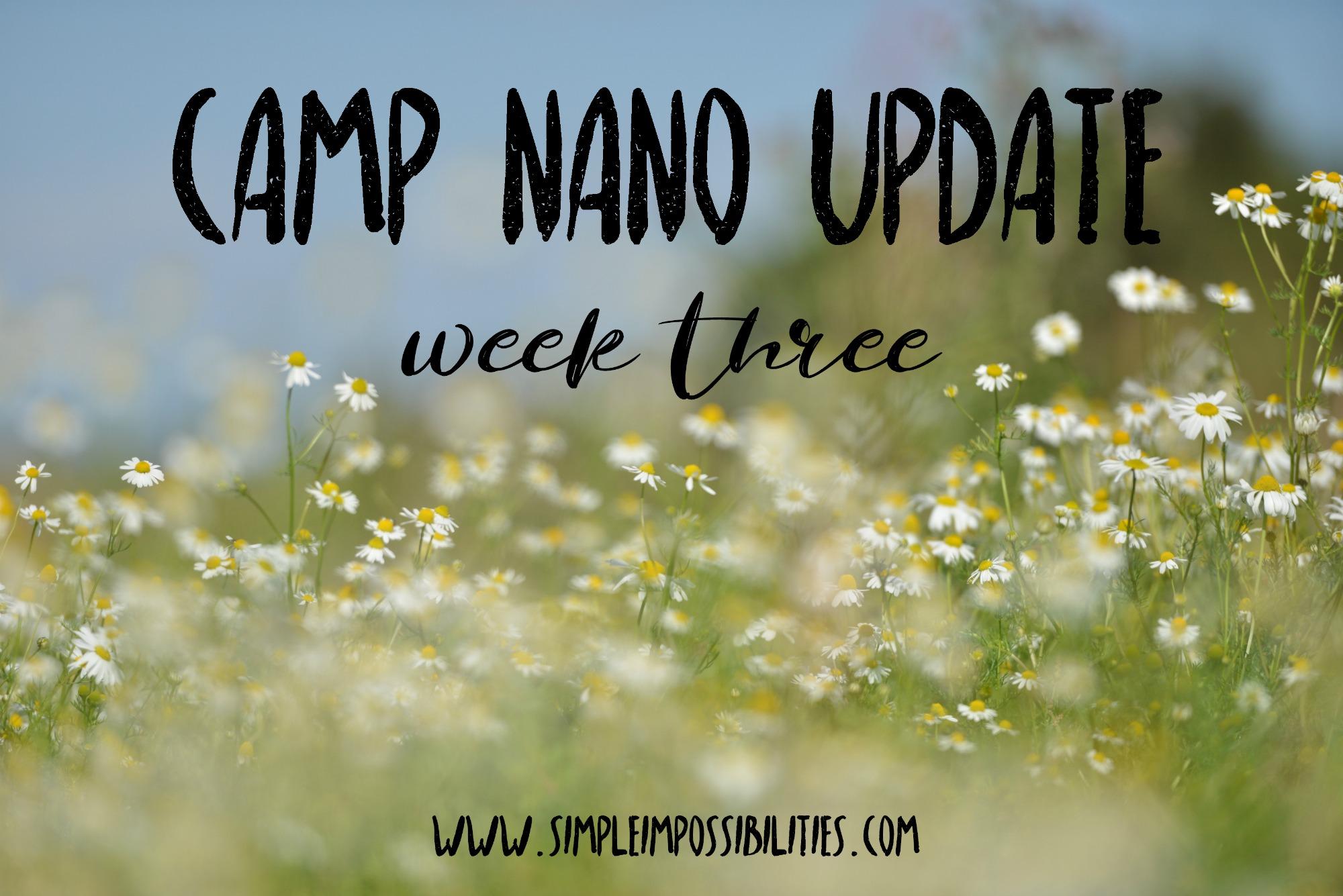 camp nano update // week three + an announcement
